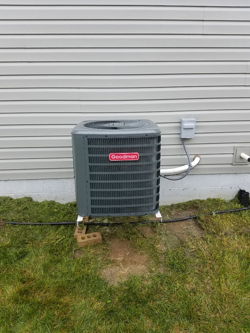 Otsego, MN - Air conditioning tune up and cleaning on Goodman air conditioner