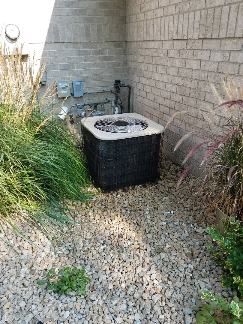 Hanover, MN - A/C tune up and clean on amana unit in hanover