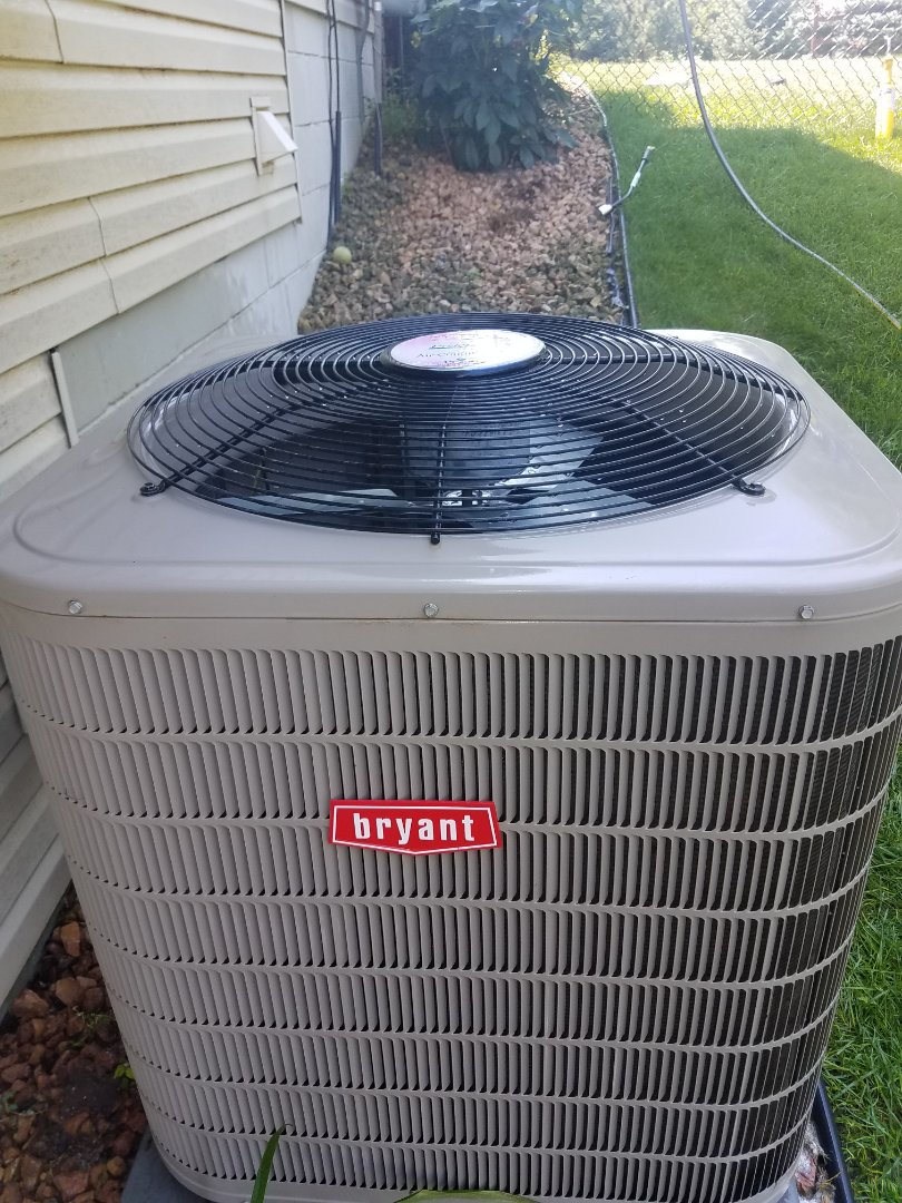 Ramsey, MN - Air conditioning tune up and cleaning on Bryant air conditioner