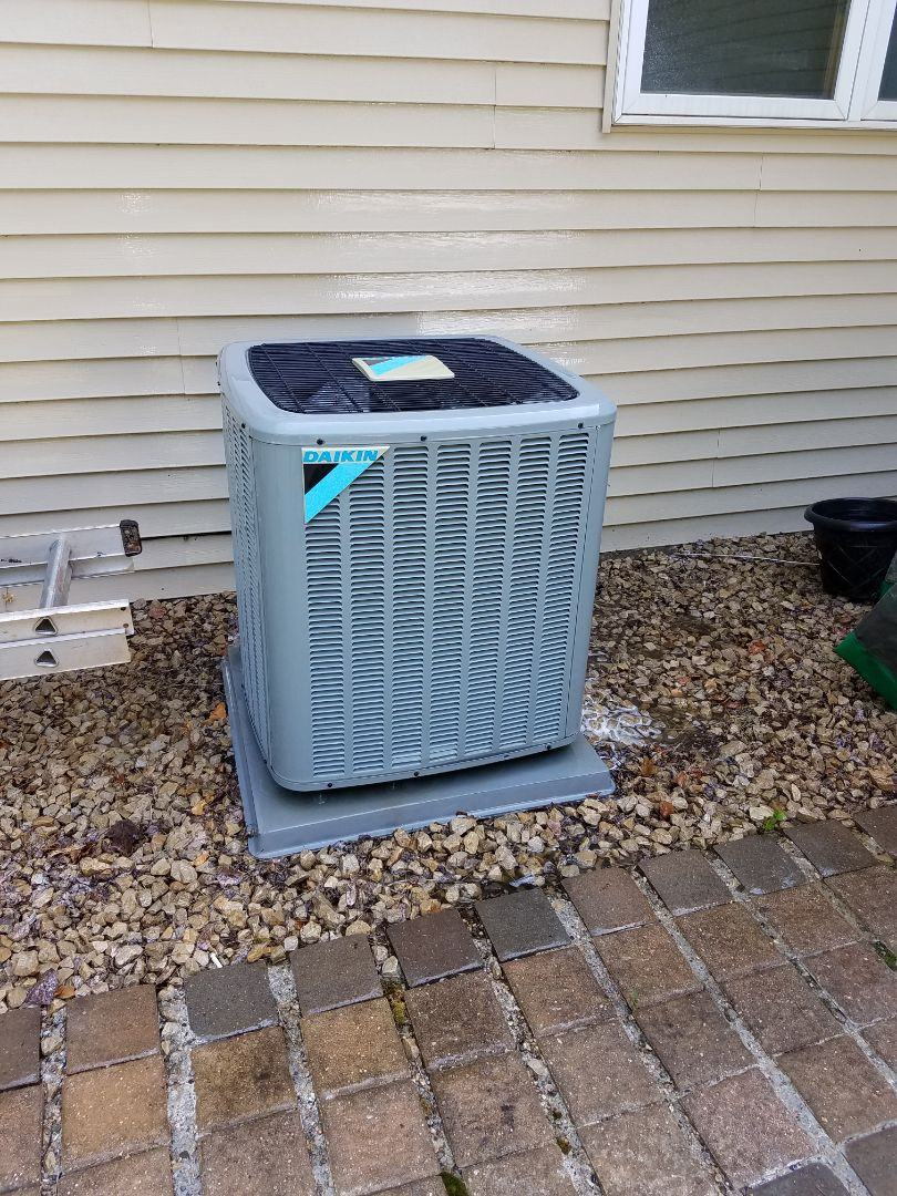 Big Lake, MN - Air conditioning tune up and cleaning on daikin air conditioner