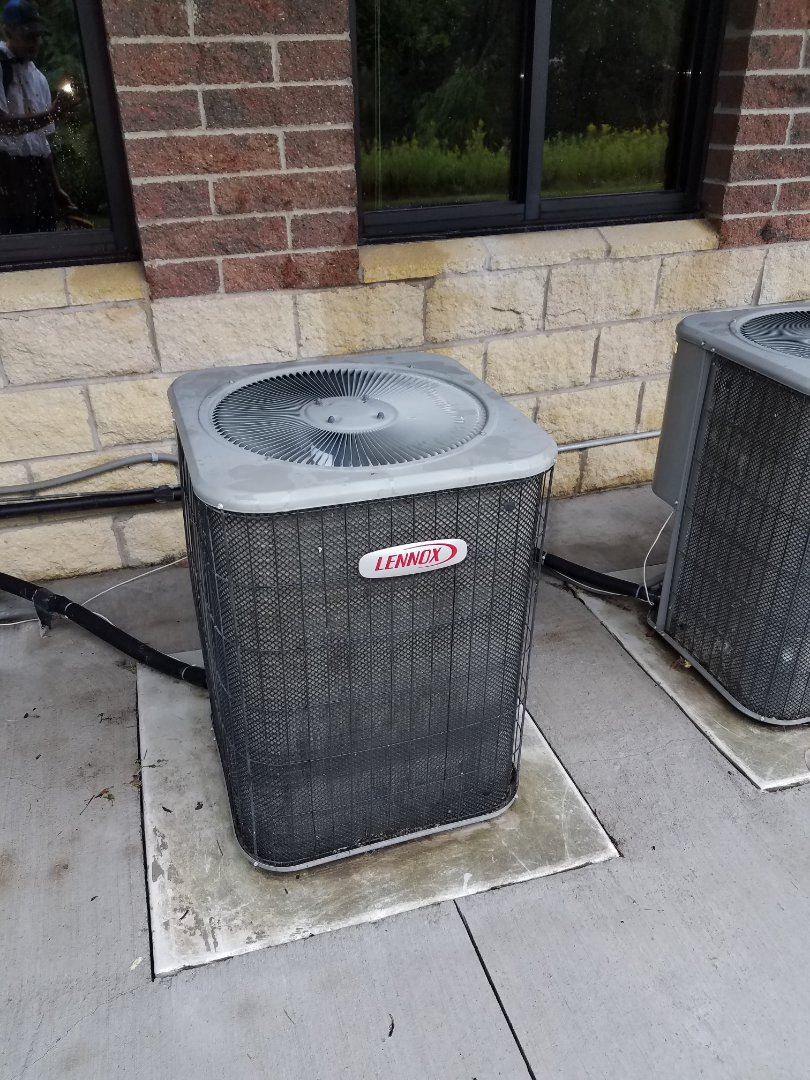 Golden Valley, MN - AC service. Installed a motor booster on a Lennox air conditioner.