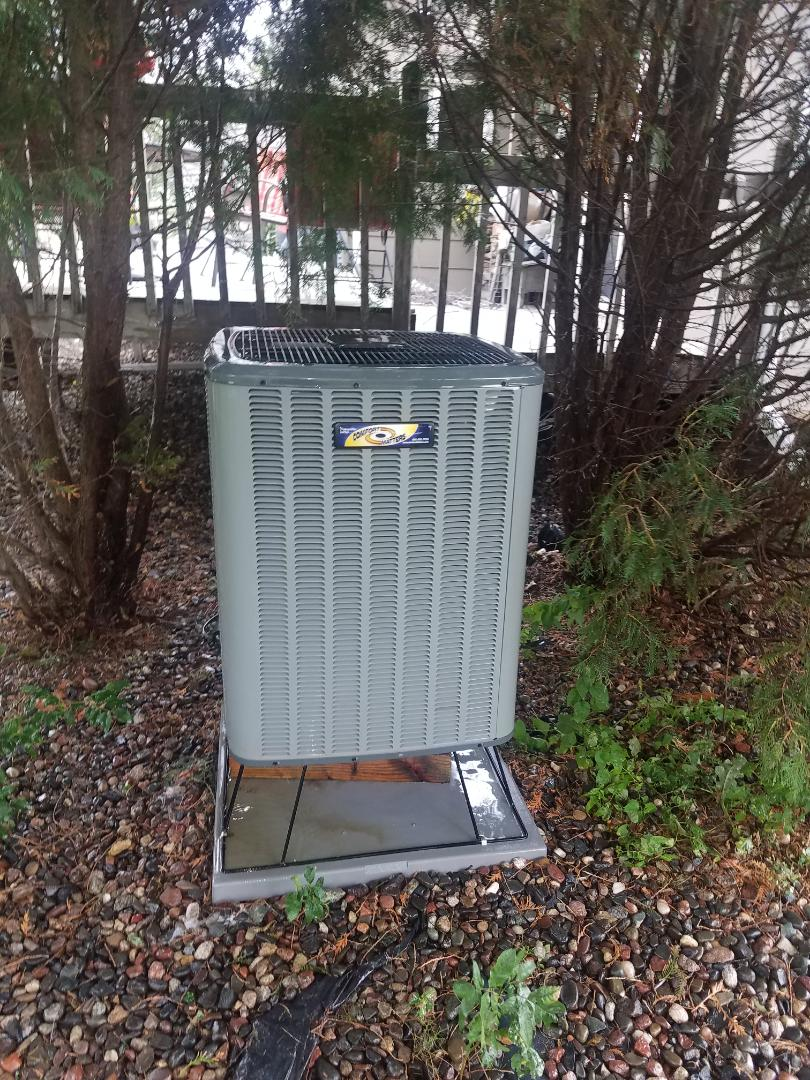 Rogers, MN - Air conditioning tune up and cleaning on amana heat pump air conditioner