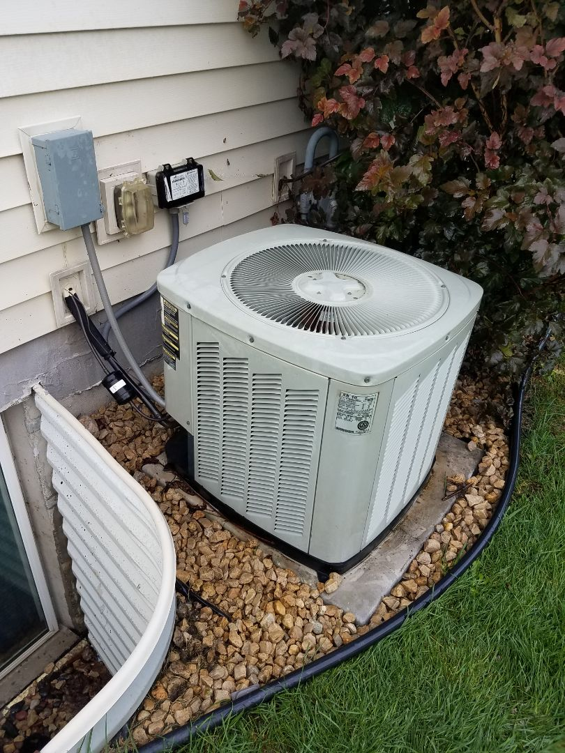 Rogers, MN - AC not cooling. Found failed motor booster in unit, replaced failed part, performed an ac tune up and cleaning. System is now cooling and operating on trane unit in Rogers