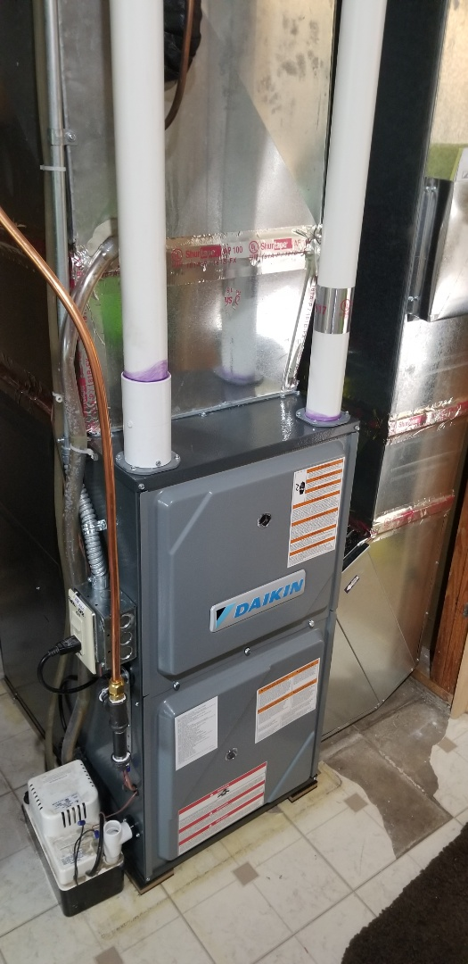 Dayton, MN - New furnace installation