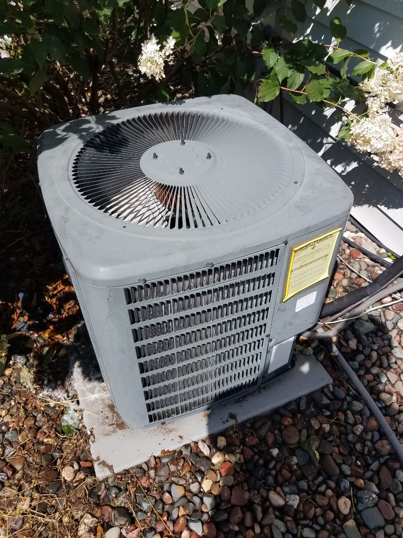 Becker, MN - AC tune up and clean on Goodman unit in Big Lake