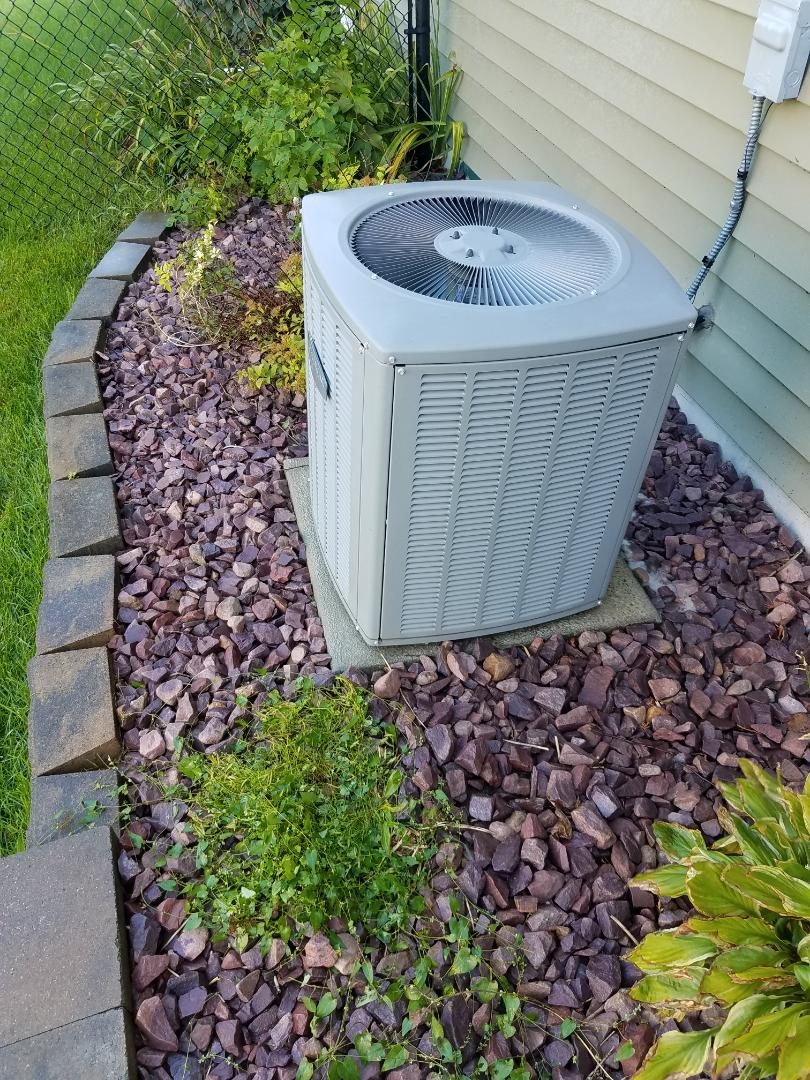 Rogers, MN - AC tune up and clean on Armstrong air unit in Rogers