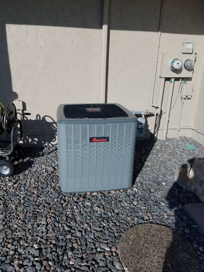 Hanover, MN - Air conditioning service. Installed a motor booster on an Amana AC.