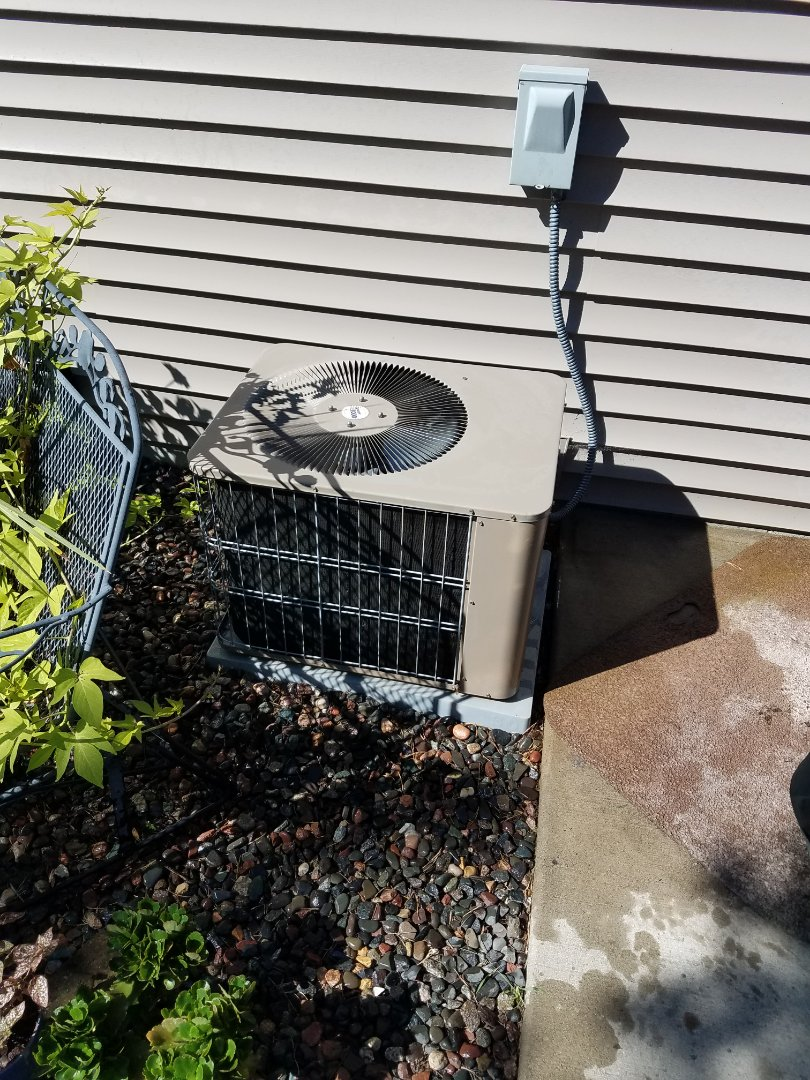 Saint Michael, MN - Air conditioning maintenance. Performed a cleaning and tune up on an Armstrong Air AC.