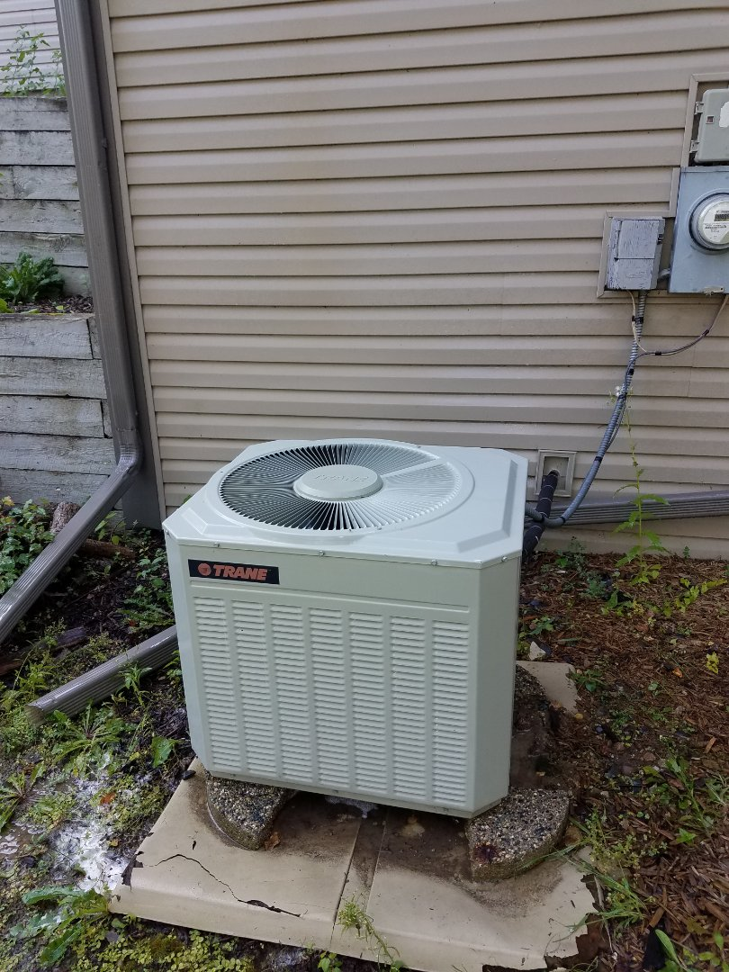 Rogers, MN - AC maintenance. Performed a cleaning and tune up on a Trane air conditioner.