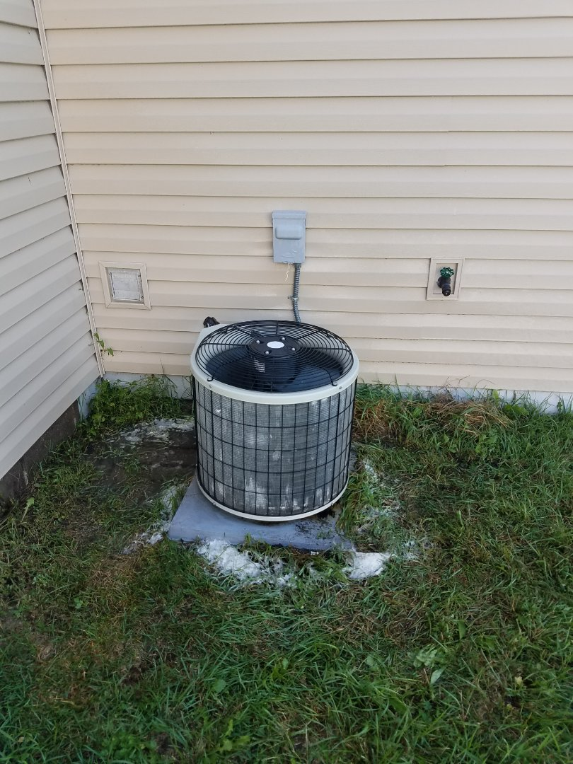 Elk River, MN - Air conditioning maintenance. Performed a cleaning and tune up on a Payne air conditioner.