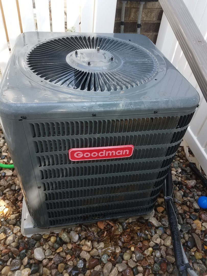 Eden Prairie, MN - Air conditioning tune up and cleaning on Goodman air conditioner