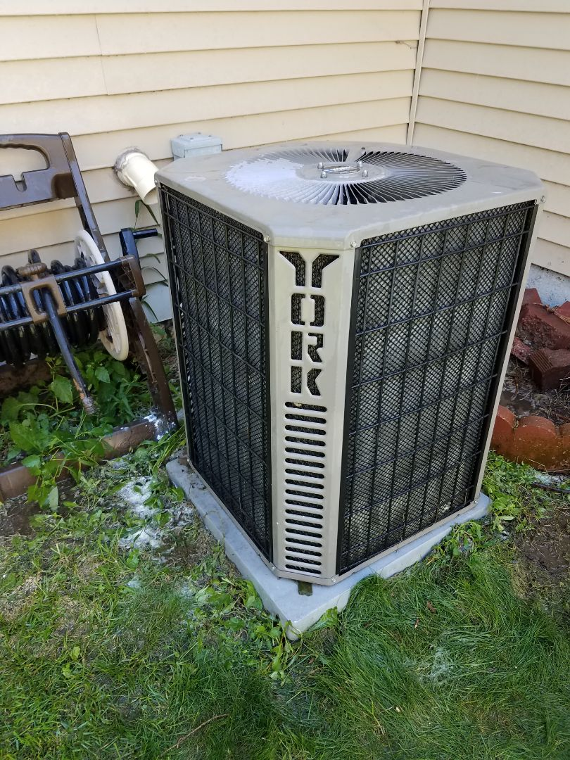 Saint Michael, MN - Air conditioning tune up and cleaning on York air conditioner