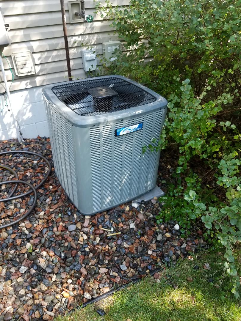Saint Michael, MN - Air conditioning tune up and cleaning on amana air conditioner