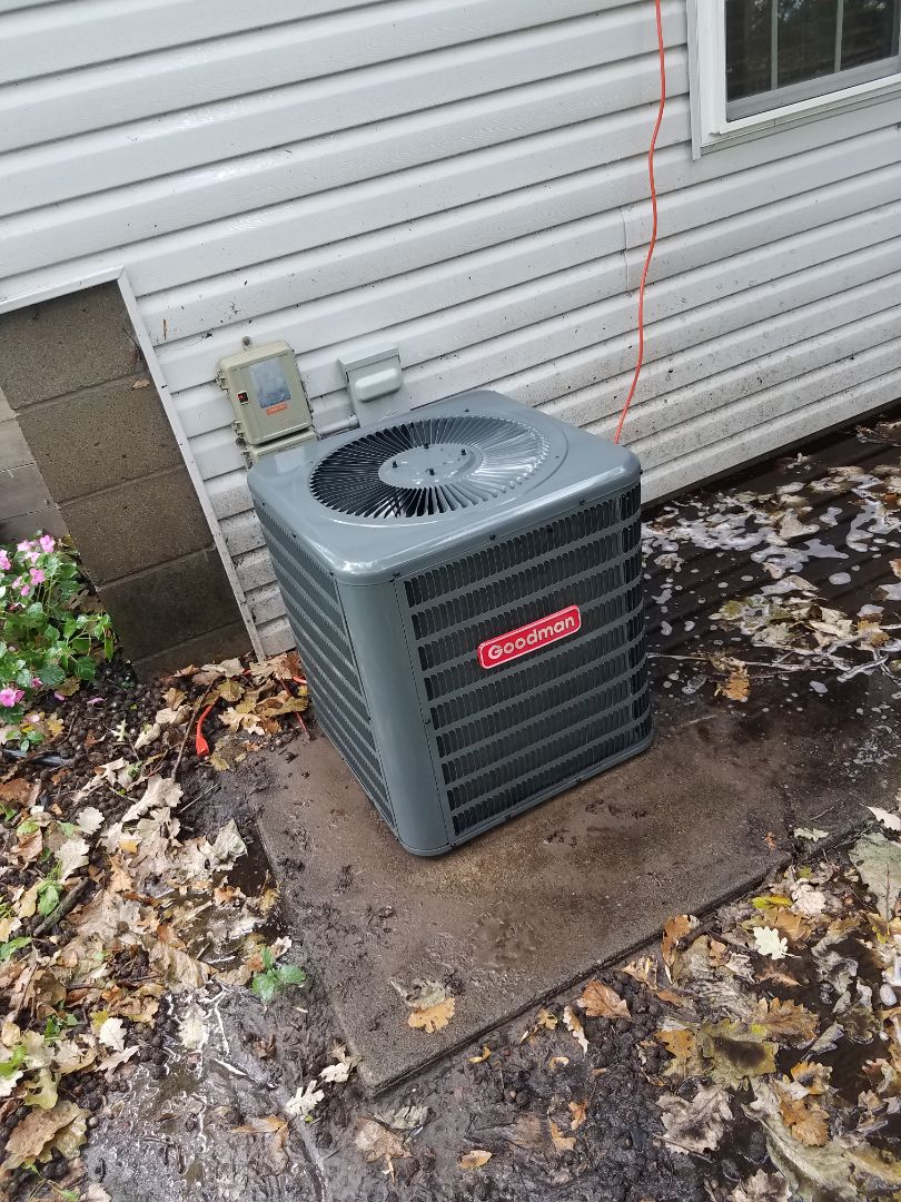 Monticello, MN - AC tune up and clean on Goodman condensing unit in Monticello