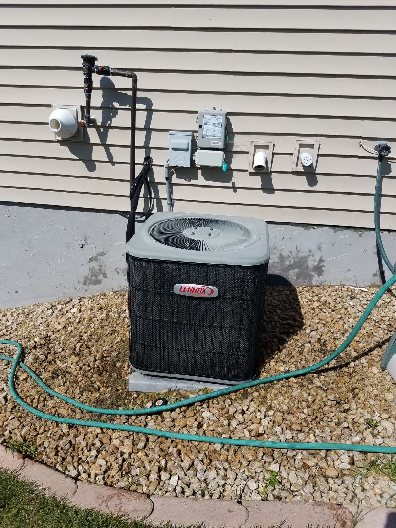 Otsego, MN - AC tune up and clean on Lennox unit in Otsego
