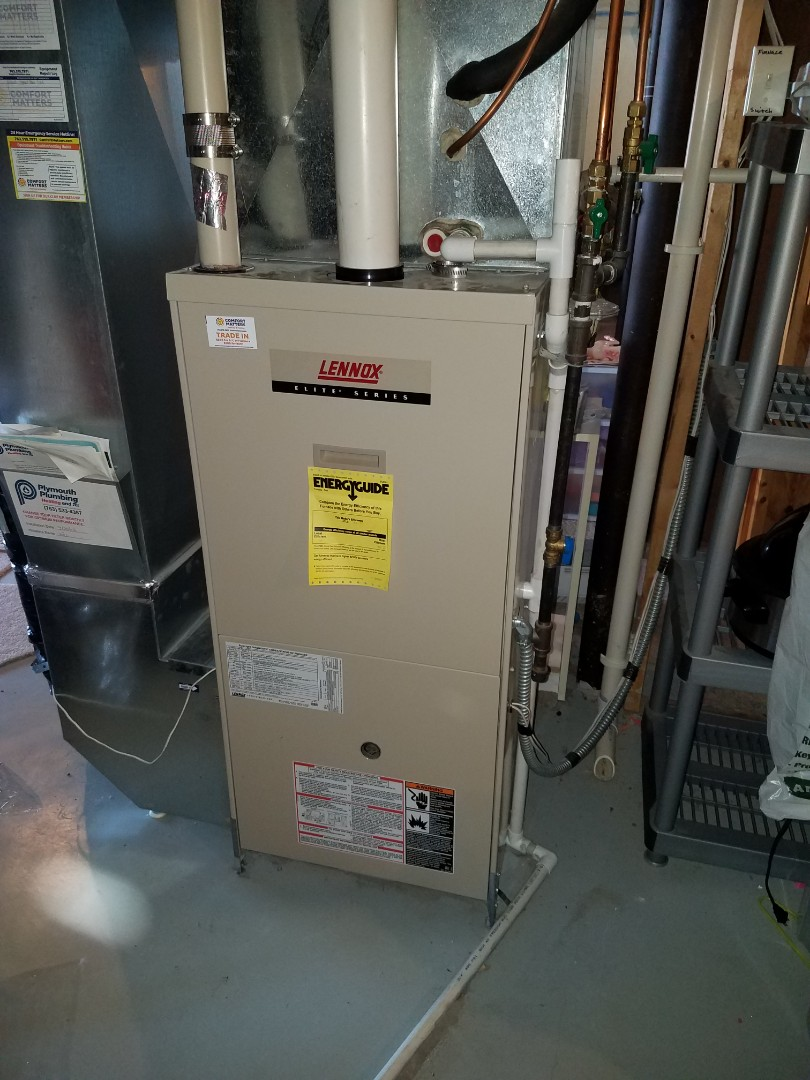 Maple Grove, MN - Furnace tune up and clean on Lennox unit in Maple Grove