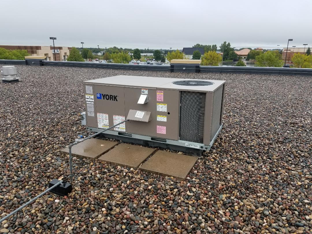 Rogers, MN - Commercial fall maintenance in York roof top unit in Rogers