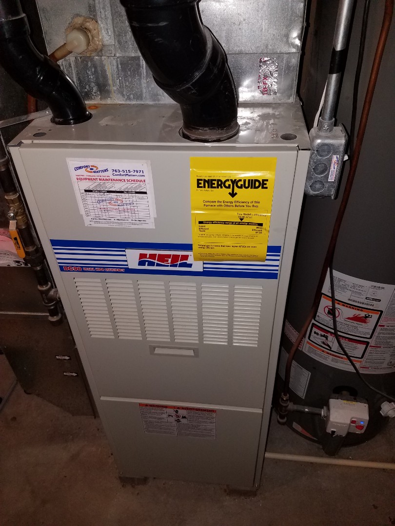 Saint Michael, MN - Furnace tune up and clean on Heil unit in St. Michael