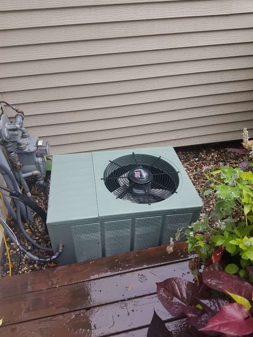 Maple Grove, MN - AC maintenance. Performed a cleaning and tune up on a Ruud air conditioner. Also installed new low voltage wiring.