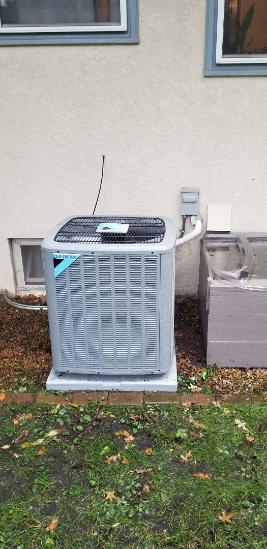 Coon Rapids, MN - Installed a new furnace and AC