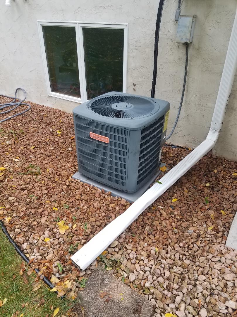 Maple Grove, MN - Air conditioner cleaning and tune up on a Goodman