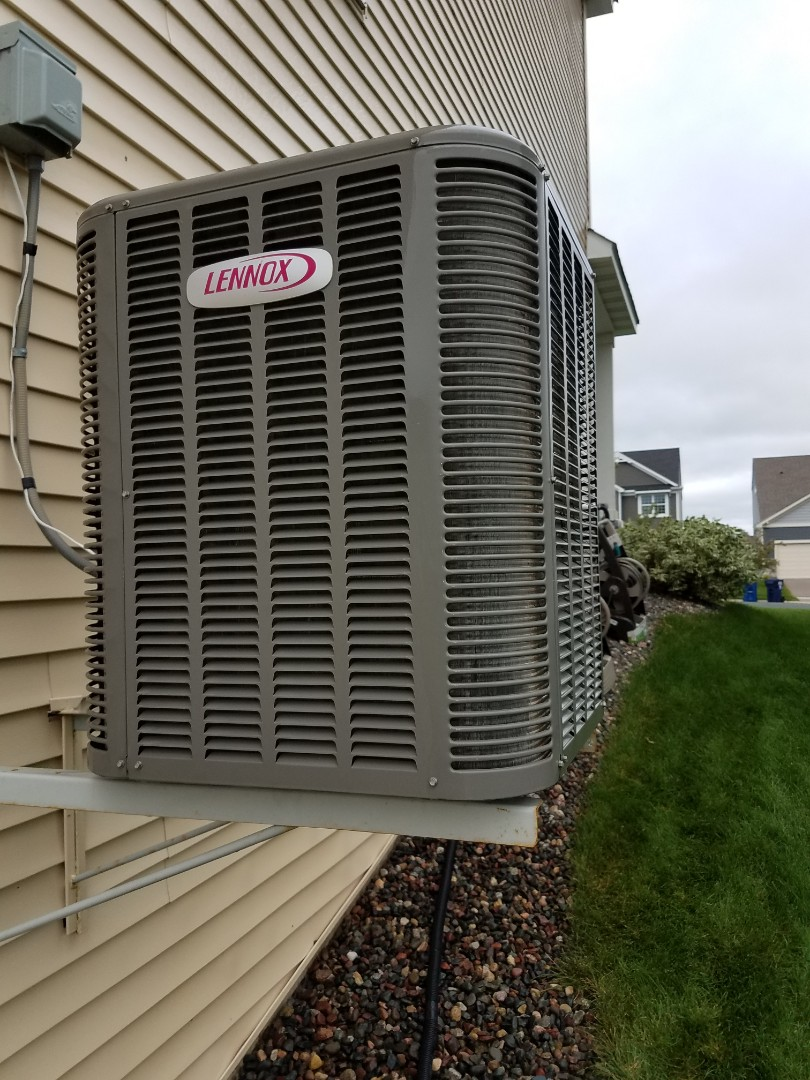 Osseo, MN - Air conditioning tune up and cleaning on Lennox air conditioner