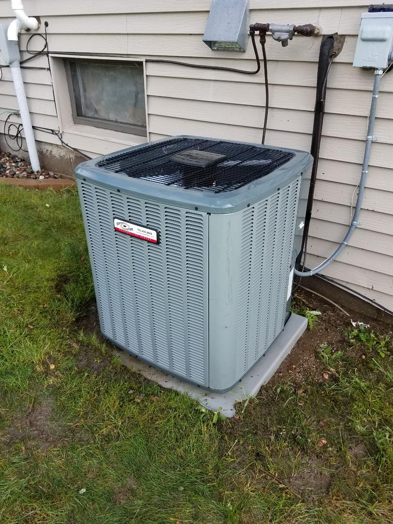 Saint Michael, MN - Air conditioning tune up and cleaning on Goodman air conditioner