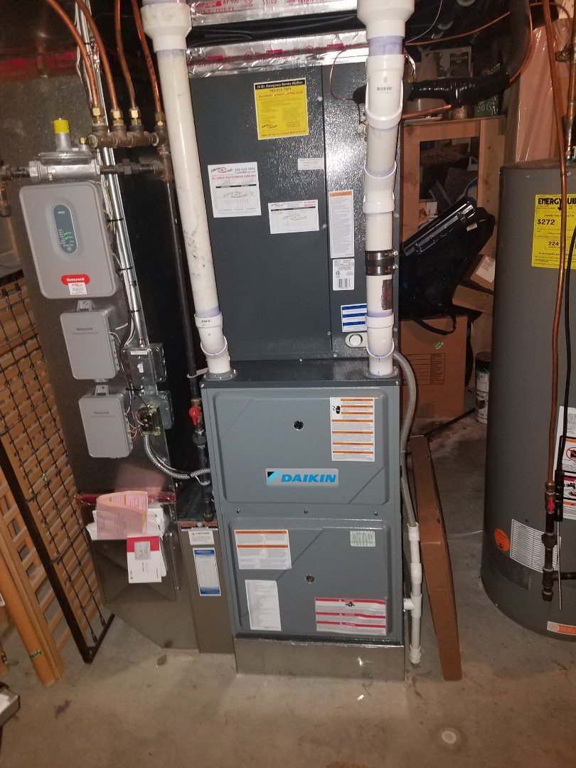 Maple Grove, MN - AC and furnace tune up on Daikin unit in Maple Grove