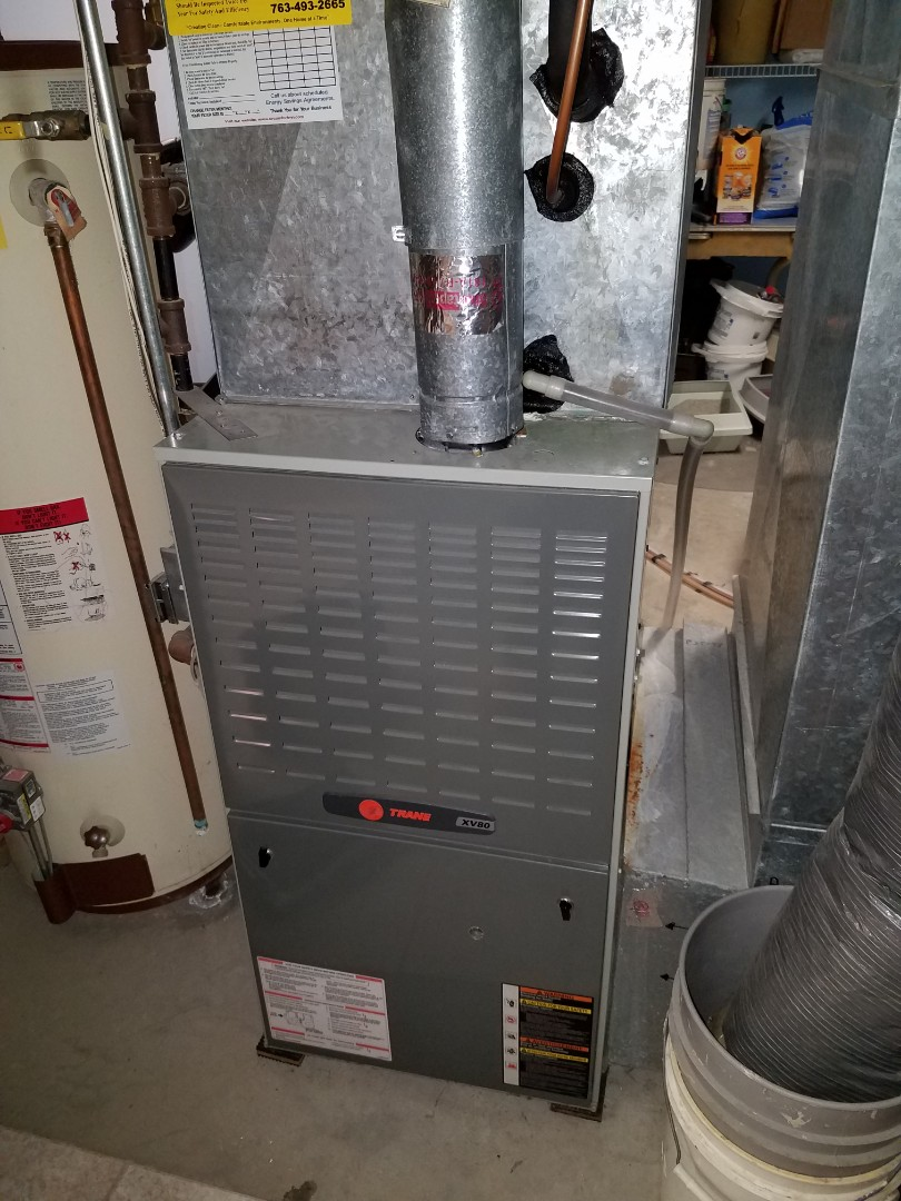 Maple Grove, MN - Furnace tune up and clean on 80% Trane unit in Maple Grove