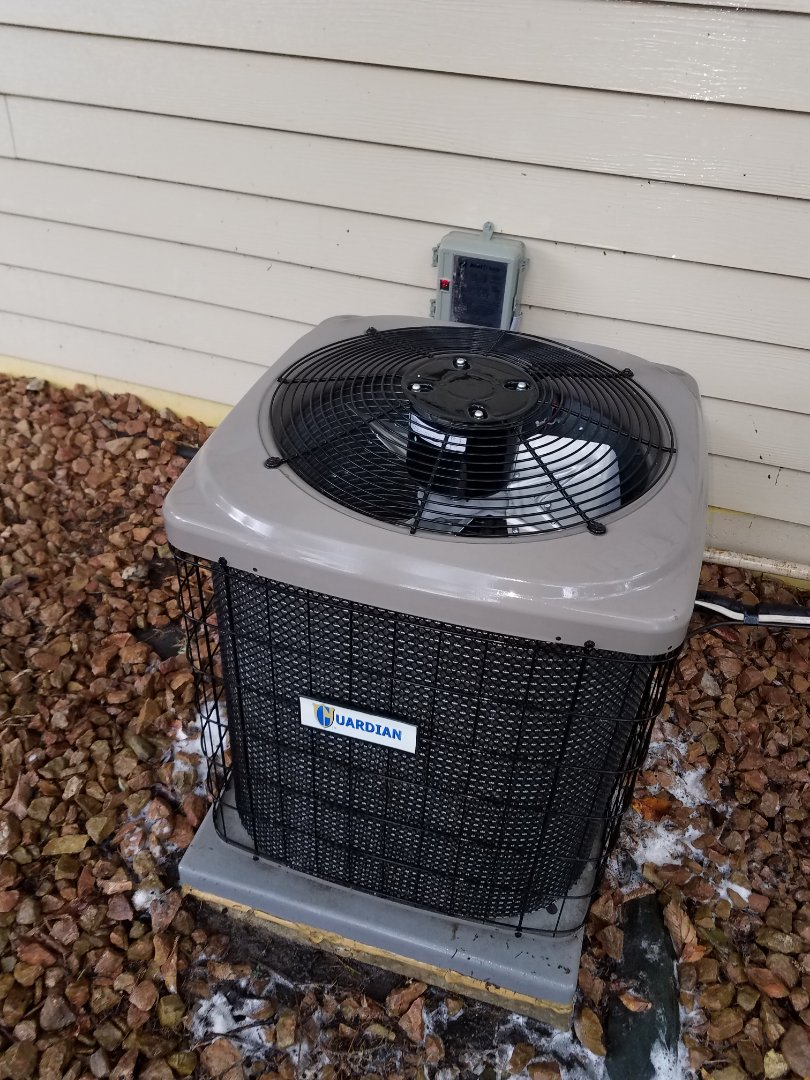 Maple Grove, MN - Air conditioning tune up and cleaning on guardian air conditioner
