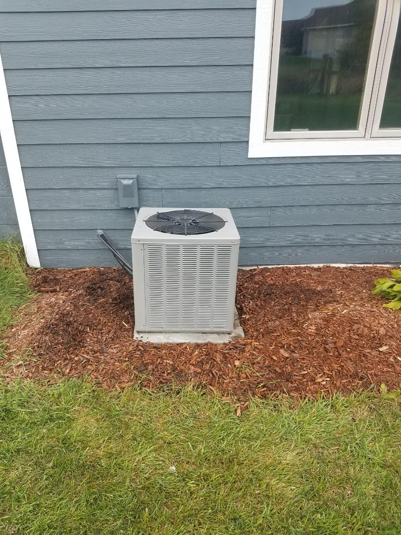 Albertville, MN - Furnace and air conditioner maintenance. Performed a cleaning and tune up on a Weather King furnace and AC.