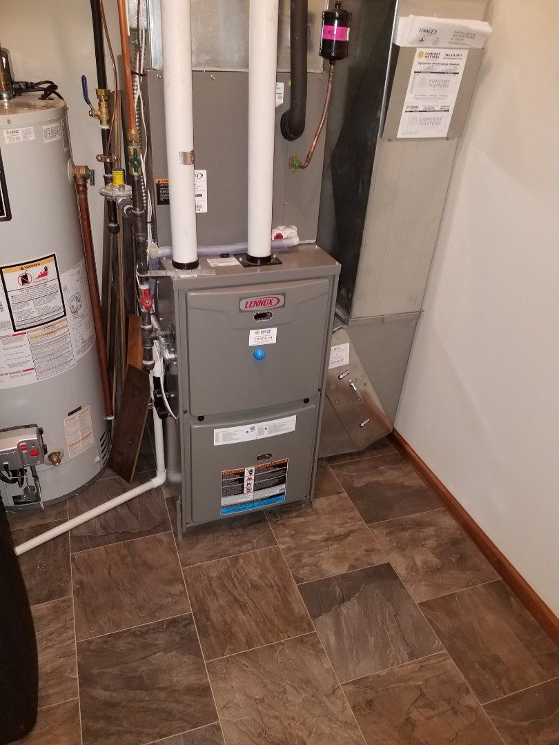 Otsego, MN - Furnace cleaning and tune up on a Lennox