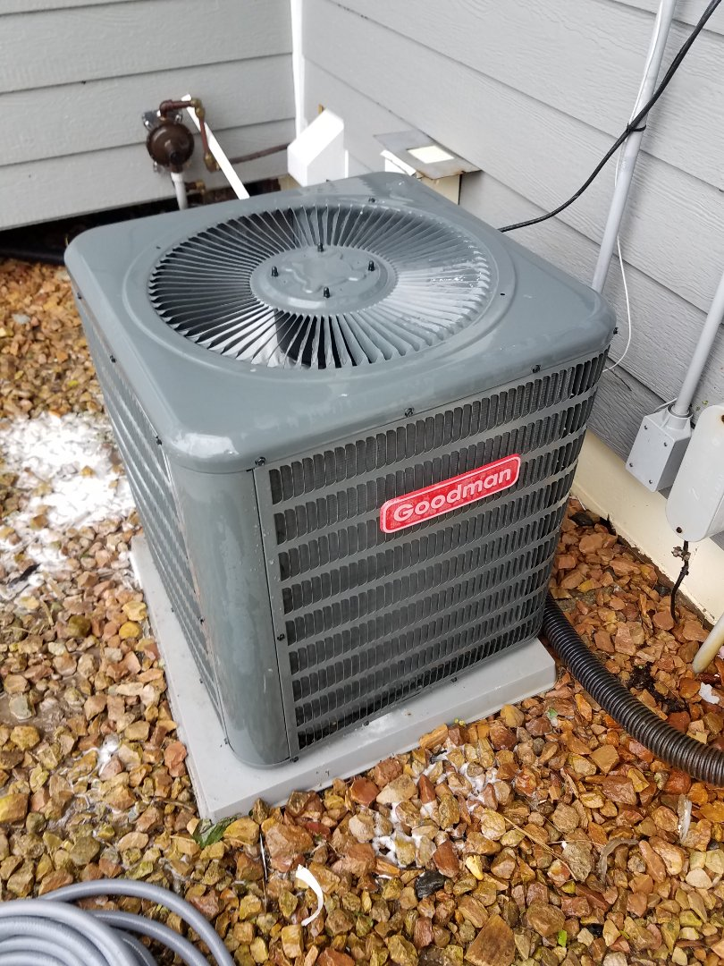 Plymouth, MN - Air conditioning tune up and cleaning on Goodman air conditioner