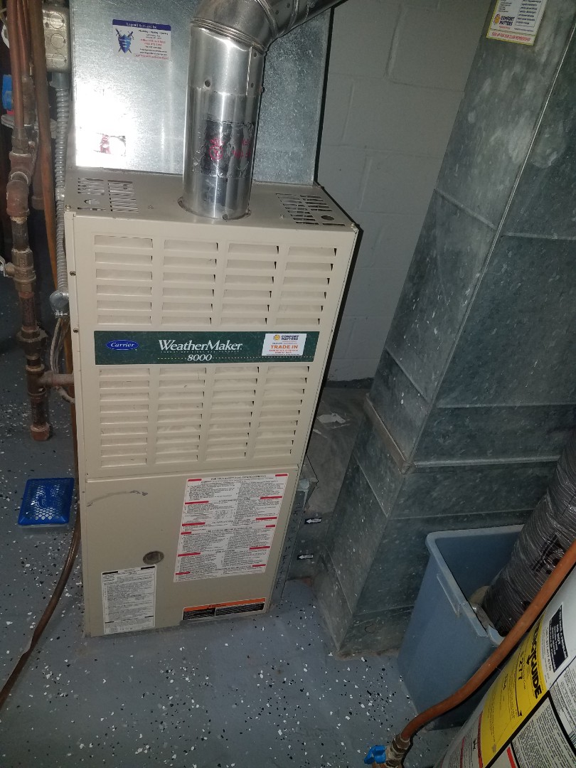 Maple Plain, MN - Furnace cleaning and tune up on a Carrier
