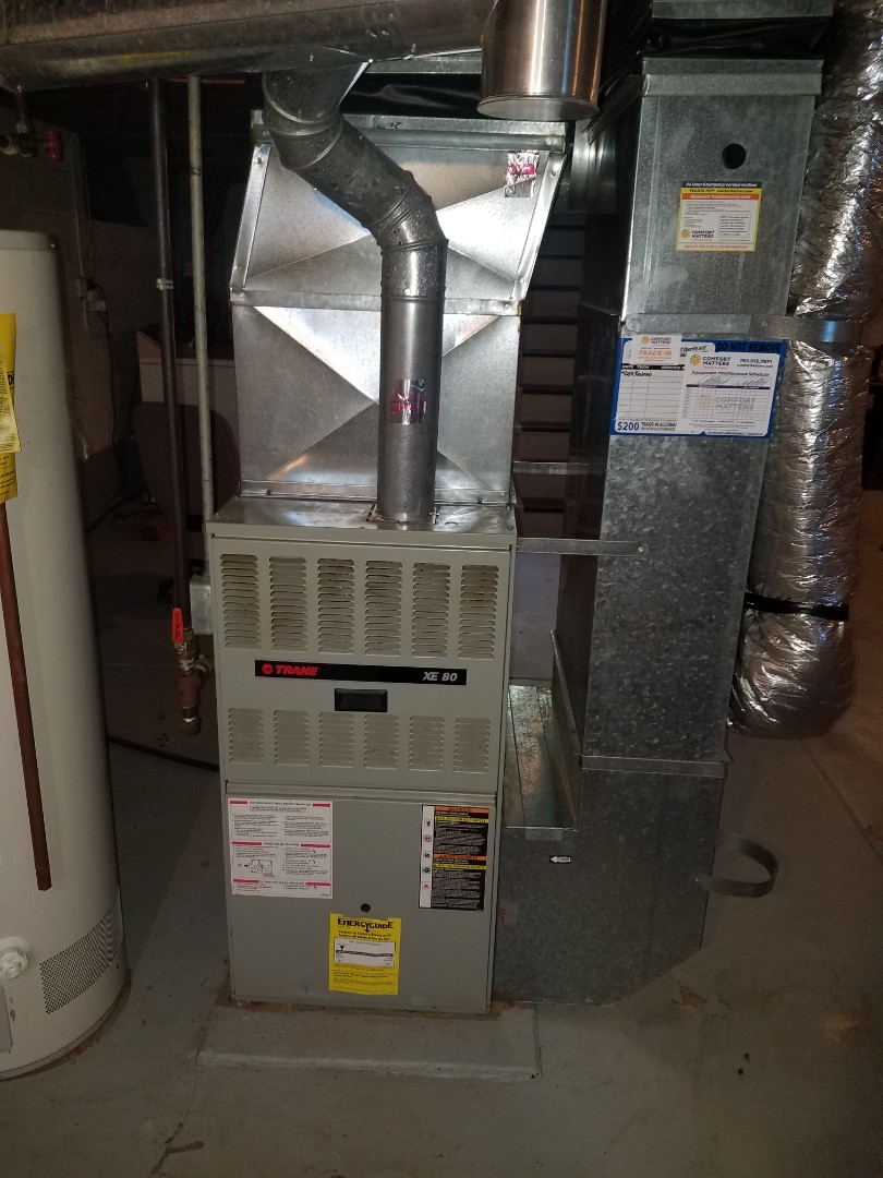 Minneapolis, MN - Heating service. Installed a heat exchanger and a blower wheel cleaning on a Trane furnace.