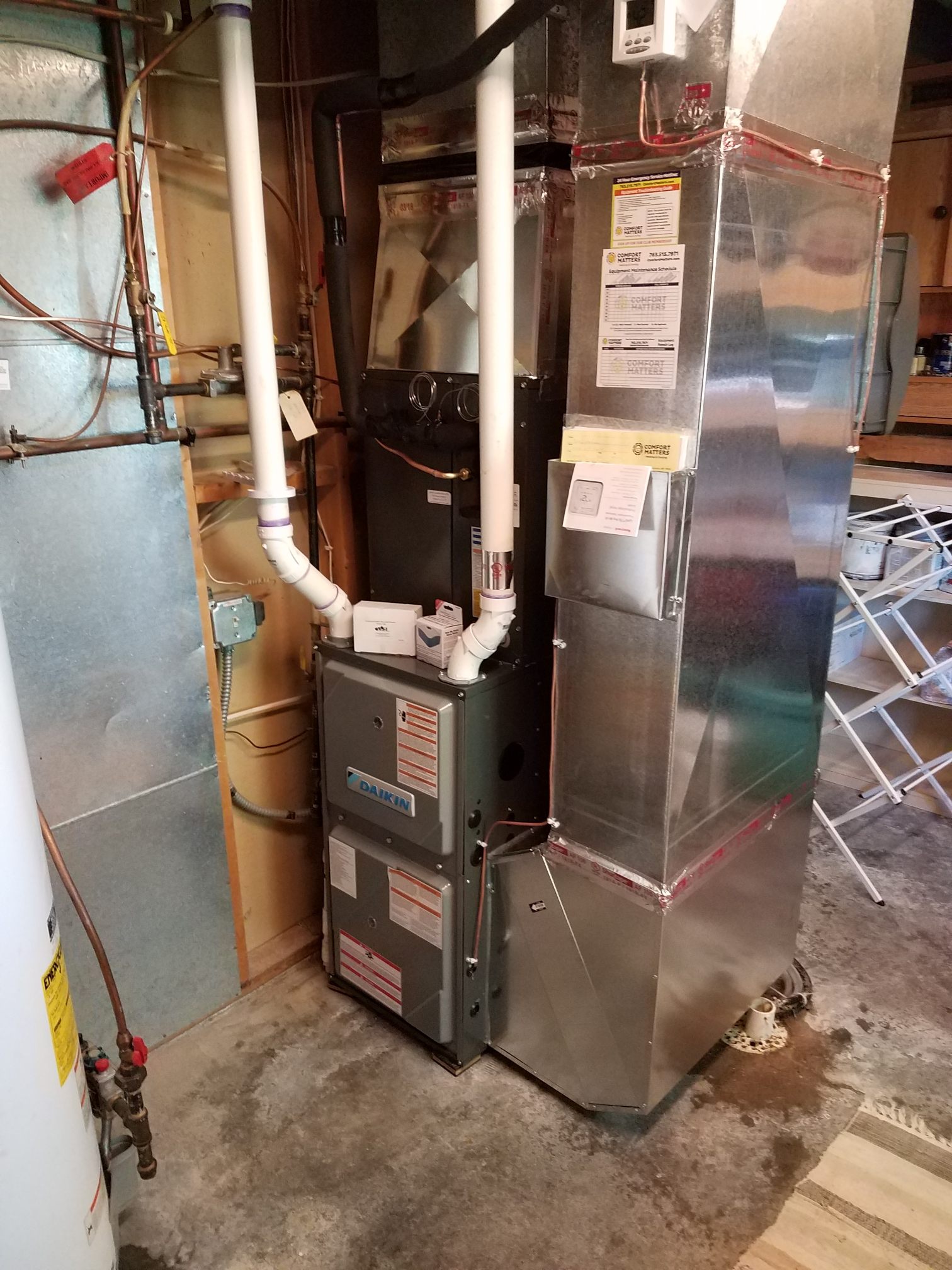 Minneapolis, MN - Install Daikin furnace and air conditioner along with General Air humidifier