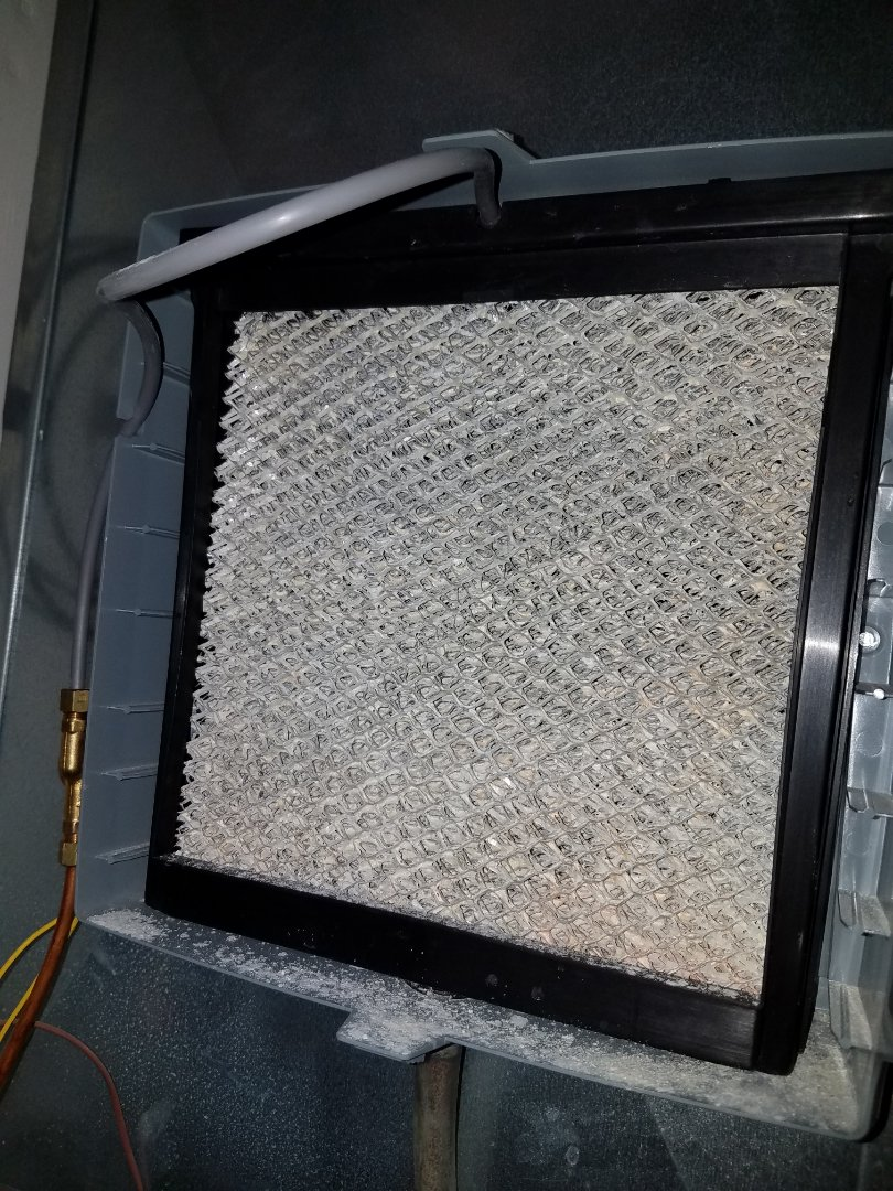 Buffalo, MN - Heating maintenance. Performed a cleaning and tune up on a Carrier furnace and Aprilaire humidifier.