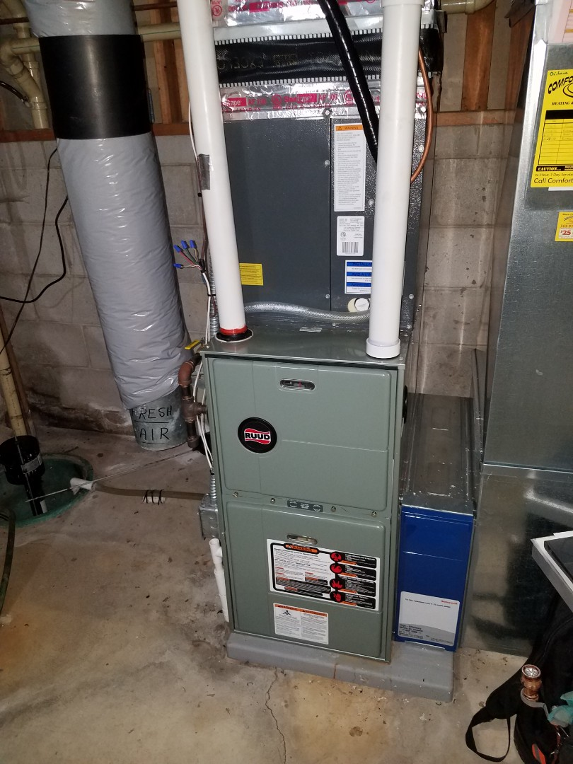 Osseo, MN - Furnace tune up and clean on Ruud unit in Corcoran