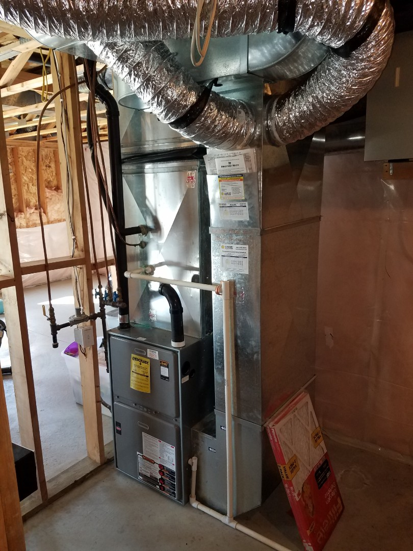 Saint Michael, MN - Ductwork install. Installed a double return on a Weather King furnace.