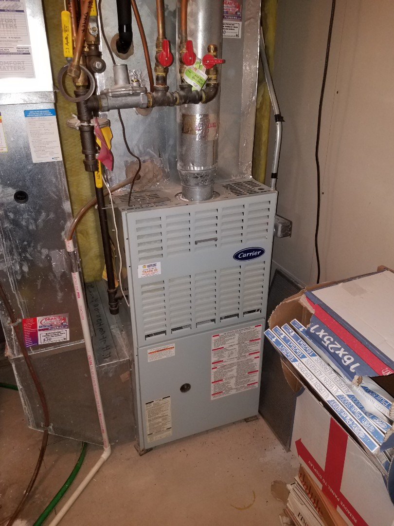 Maple Grove, MN - Furnace and humidifier tune up and clean on carrier unit in Maple Grove
