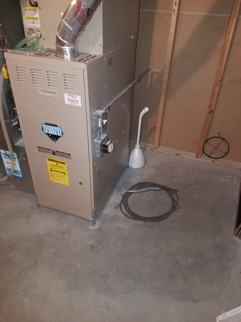 Osseo, MN - Furnace tune up and clean on 80 % york unit in Maple Grove