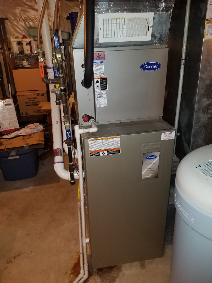 Plymouth, MN - Furnace tune up and clean on 90+% carrier unit in Maple Grove