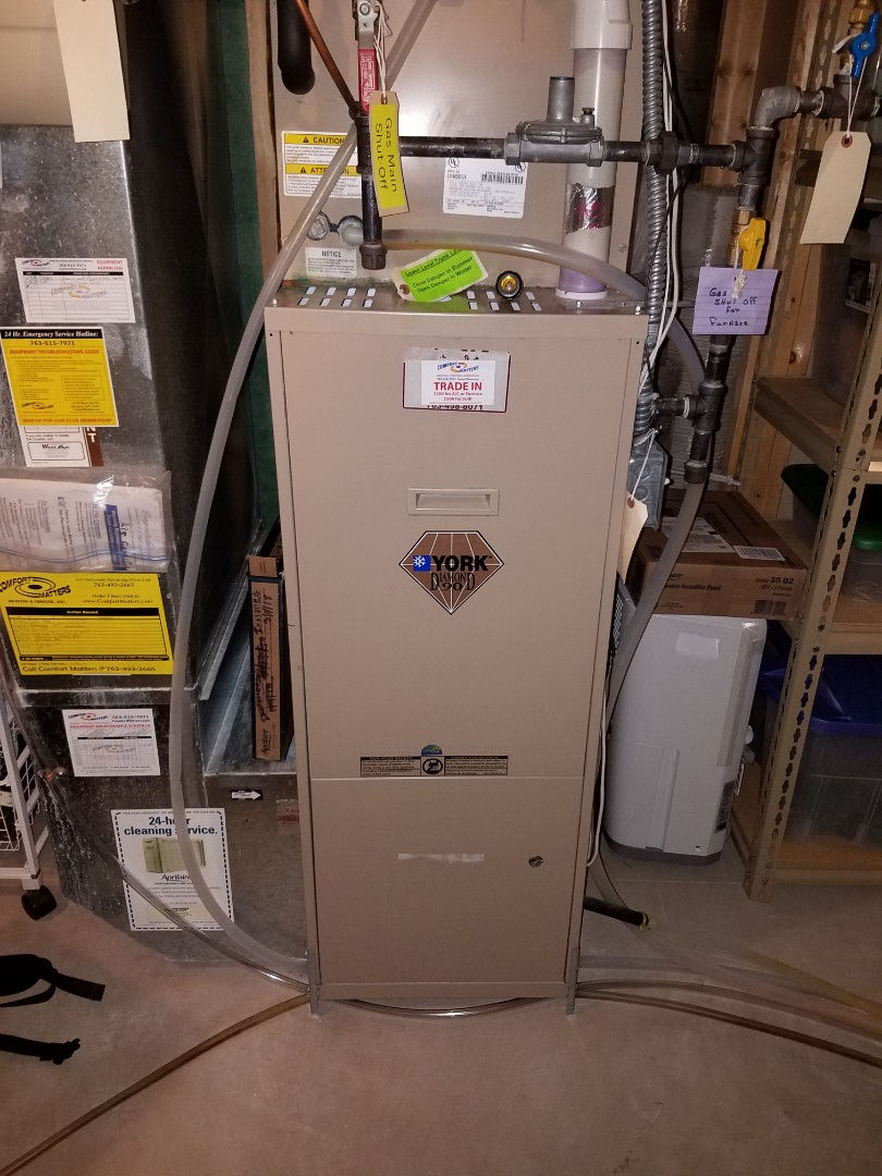 Saint Michael, MN - Furnace heating tune up and cleaning on York furnace