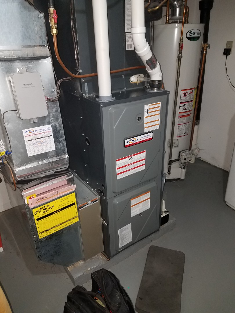 Maple Grove, MN - Furnace tune up and cleaning on amana furnace
