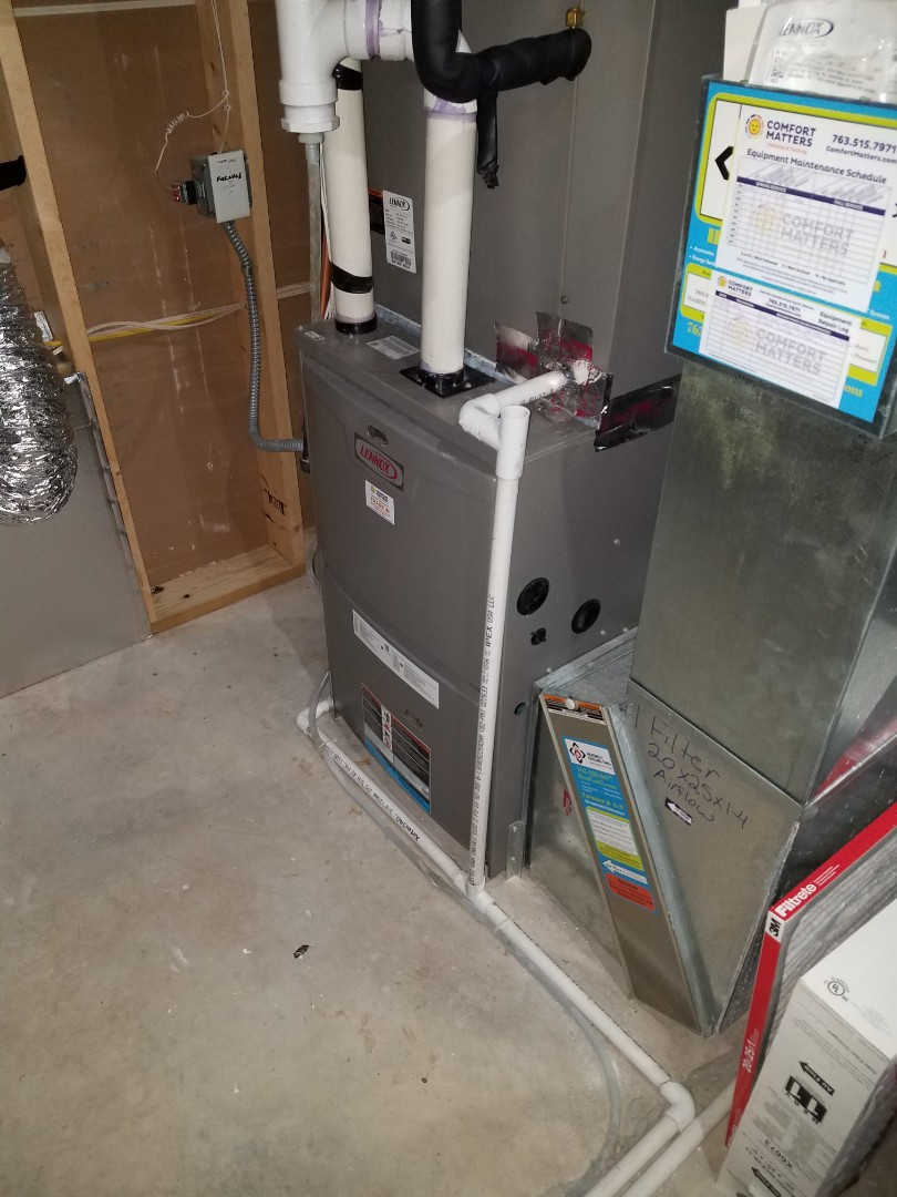 Plymouth, MN - Air flow service. Performed an air flow test of home, also installed an Aprilaire humidifier media pad.