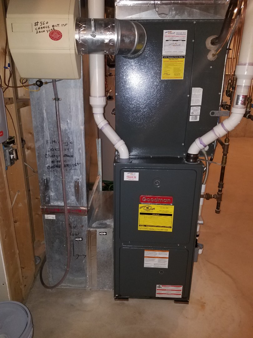 Saint Michael, MN - Thermostat install. Installed a Honeywell T6 wifi thermostat on a Goodman furnace.