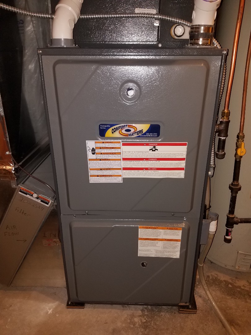 Rogers, MN - Furnace tune up and cleaning on Goodman furnace