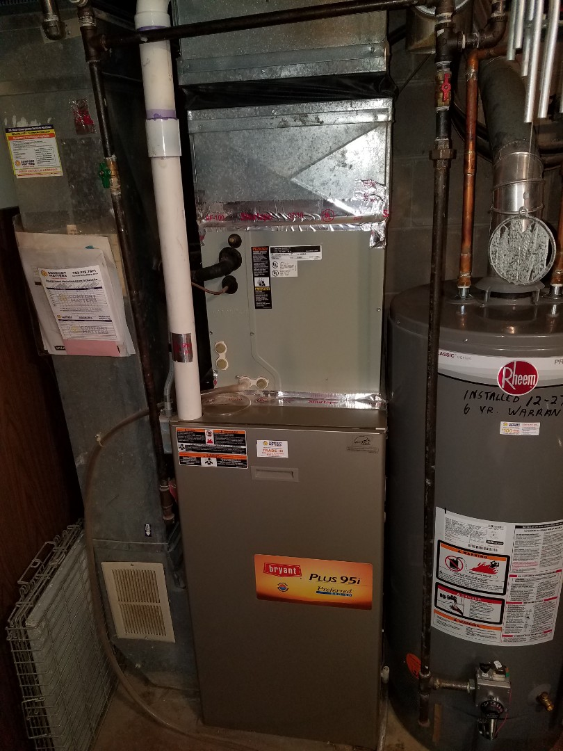 Maple Grove, MN - Heating service. Installed a flame sensor and performed a cleaning and tune up on a Bryant furnace.