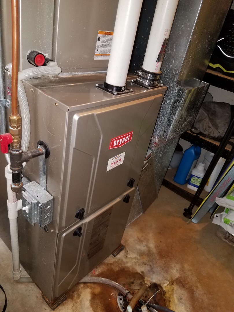 Plymouth, MN - Furnace tune up and clean on 90+% efficient Bryant unit in Plymouth