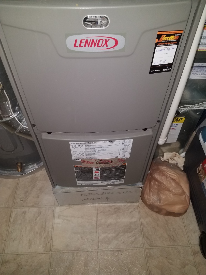 Plymouth, MN - Furnace tune up and clean on Lennox unit in maple grove. Also replace ignitor that was reading poorly.